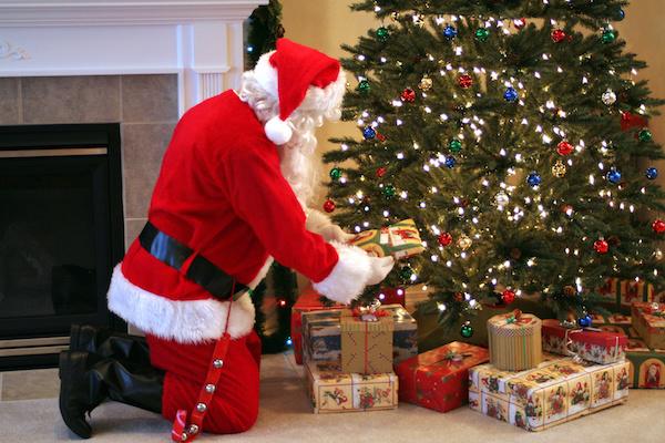 Santa Delivering Presents